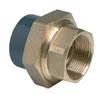 PVCu Composite union plain/BSP female brass