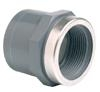 PVCu Socket plain/BSP female threaded reinforced