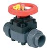 PVCu Diaphragm valve BSPF threaded sockets EPDM seals
