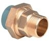 ABS Composite union plain/BSPT male brass threaded