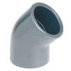 PVCu Elbow 45° plain