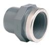 PVCu Spigot plain/BSP female threaded reinforced